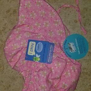 Iplay swim diaper and bucket hat